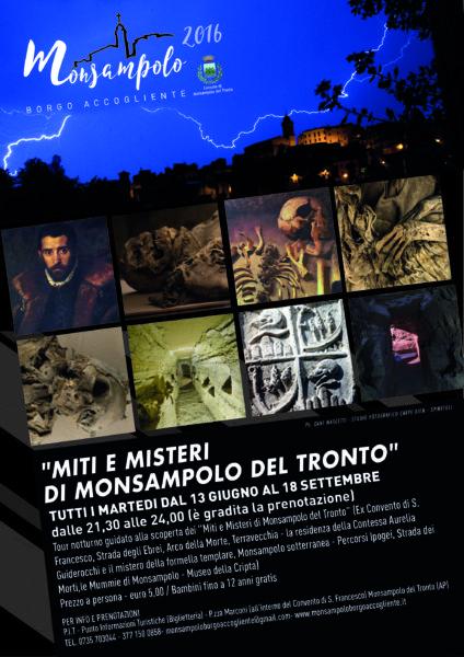 Locandina - Miti e Misteri di Monsampolo del Tronto