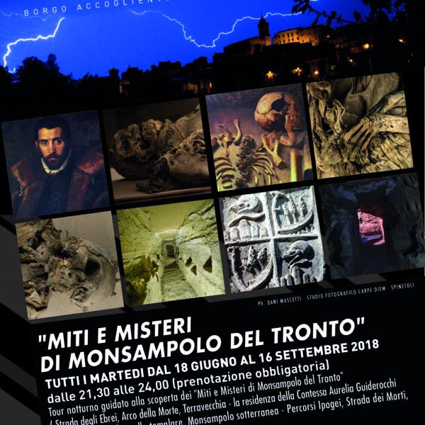 """Tour noturno """"Miti e Misteri di Monsampolo del Tronto"""" Estate 2018"""