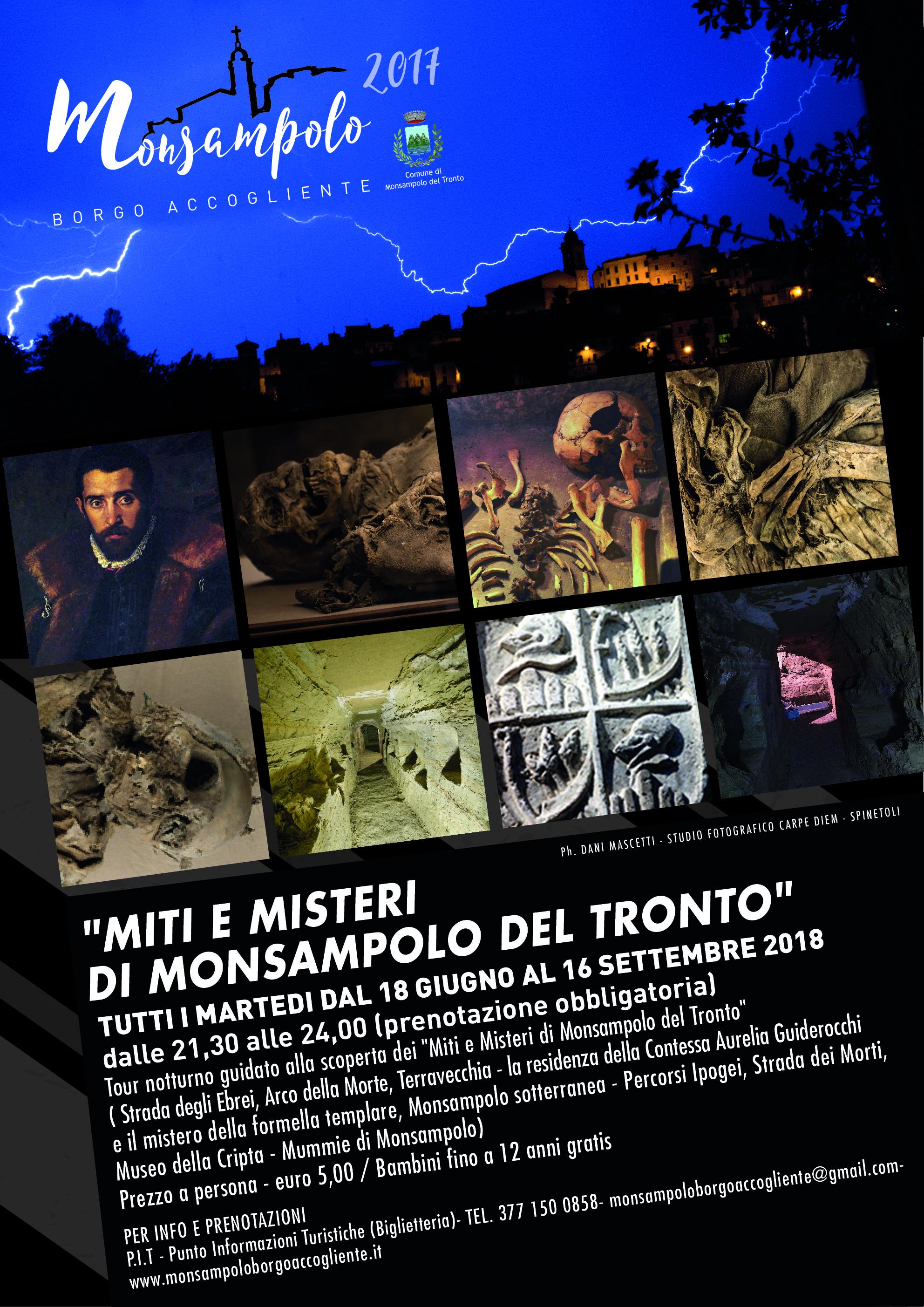 Locandina Tour Miti e Misteri 2018