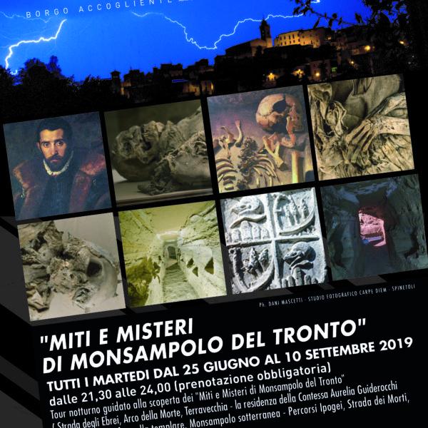 """Tour notturno """"Miti e Misteri di Monsampolo del Tronto"""" – estate 2019"""