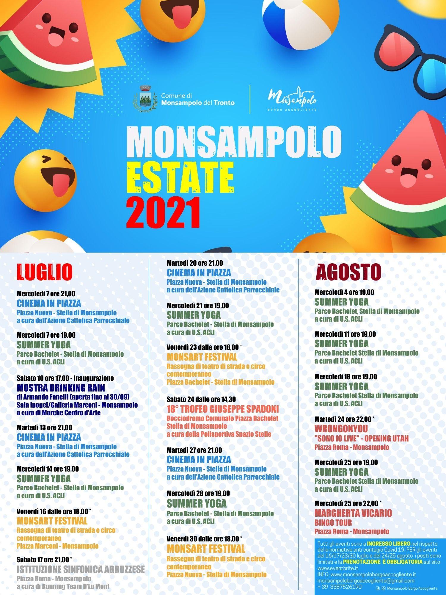 Calendario eventi Estate 2021 Monsampolo