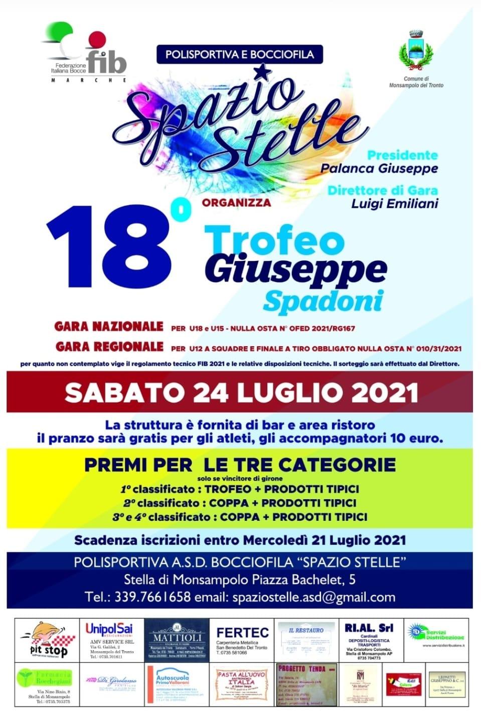 18° Trofeo Giuseppe Spadoni
